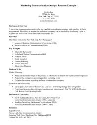 Communication Resume Sample Assistant Resume Marketing Communication Objectives Examples 17