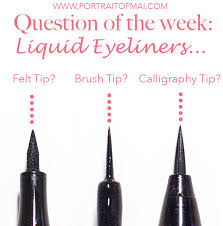 liquid eyeliner brush. eyeliner styles liquid brush