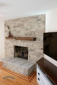 dry stack stone fireplace 23