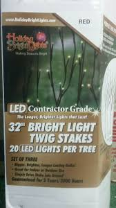 Holiday Bright Lights Led Contractor Grade Holiday Bright Lights Contractor Grade Led Twig Stake 32 In L Multi