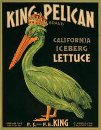 Vintage Food Labels King Pelican Lettuce Vintage Food And Drink Labels