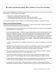 How To Revise A Paper Revision And Proofreading How To Revise Your Own Writing