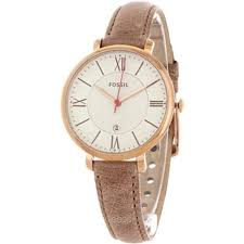 fossil es3487 women s jacqueline sand leather watch