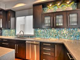 kitchen brown glass backsplash. Kitchen Backsplash Ideas With Dark Cabinets White Lacquered Wood Island Light Grey Stone Brown Glass