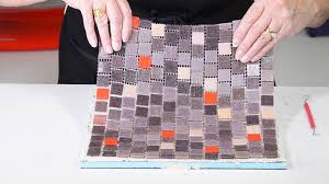 how to install your quikstik mosaic mesh to mosaic backer