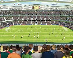Foto Posterbehang Kinderkamer Behang Voetbal Stadion Pinterest