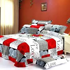 red king duvet red king size bedding sets modern bedroom design with love words red rose