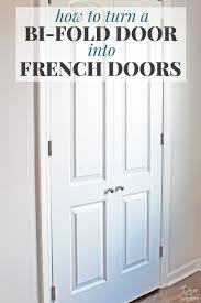 How to Turn a Bi Fold Door into French Doors DIY Closet Door Makeover