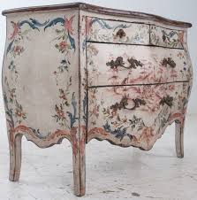 floral painted furniture. italian century painted bombe chest at floral furniture