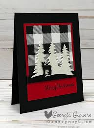 Its A Red White And Black Christmas Card Stampin With