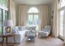 Living Room Curtains Design Ideas Chic classic desogn for the mansion`s  room finished in white with arched window