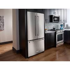 kitchenaid refrigerator french door. kitchenaid - krfc302ess 22 cu. ft. counter-depth french door refrigerator kitchenaid e