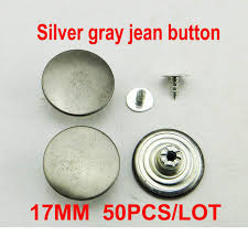 Online Shop <b>50PCS 17MM</b> letter <b>metal</b> jeans button Brand trousers ...