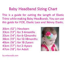 Headband Size Chart Ani Wasabi Craft Supplies Baby Headband Sizing Chart