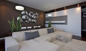 designs ideas ultra modern living room with sectional sofa and stunning 3d wall art raise