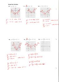 graphing quadratic functions worksheet free worksheets library