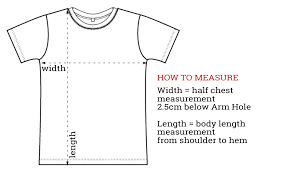 Body Length Size Chart Sizing Charts
