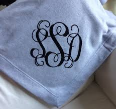 personalized monogrammed sweatshirt blanket wedding gift wedding blanket throw