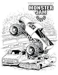 Printable Monster Truck Coloring Pages Free Monster Truck Coloring