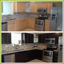 Restain Oak Kitchen Cabinets