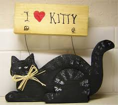 Wood Craft Patterns Beauteous Wood Crafts I Love Kitty Sign Pattern