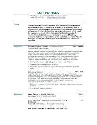 Cv For Teacher Template For A Cv Teachers Position Teacher Job Resume Sample