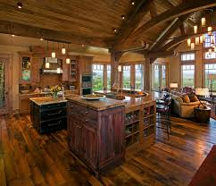 open floor plan farmhouse kitchen rustic with vaulted ceiling plans a29e492d2760379479b851ae3a7 rustic open floor plans house