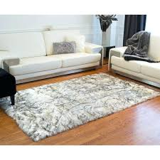 sheepskin area rug incredible faux fur grey touvr club for 6