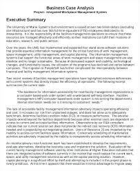 Management Summary Template Executive Report Doc It Example