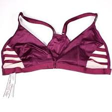 Details About Nwt Victoria Secret Strappy Mesh Bralette Burgundy Wireless Size M Front Closure