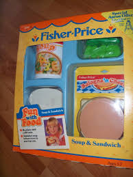 vintage 1987 fisher price fun with food kitchen toy loaf of bread