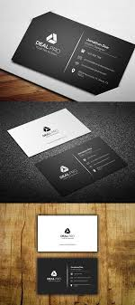 Simple Business Card Template Black Simple Business Cards