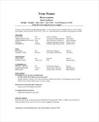 Film Production Resume Template Awesome Technical Theatre Resume Template The General Format And Tips For