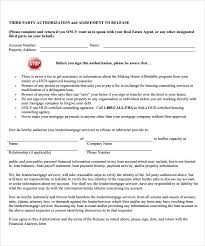 Sample Third Party Authorization Letter 8 Free Examples