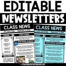Weekly Class Newsletter Template