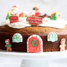 Gingerbread Bundt Cake With Icing Decorated For Christmas