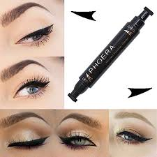 inverlee 2018 easy to makeup waterproof cat eye wing eyeliner tool double head black