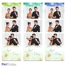 Green Layouts Roses And Sparkles 2 X 6 Inch Elegant Wedding Photo Booth Photo Strip Template Layout