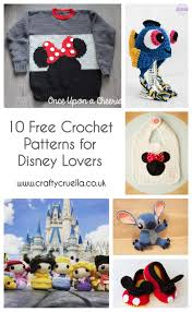 Disney Patterns Stunning 48 Free Crochet Patterns For Disney Lovers Crafty Cruella