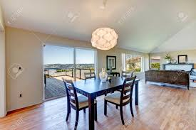 Open Plan Living Room Open Plan Living Room And Dining Area Light Tone Vaulted Ceiling