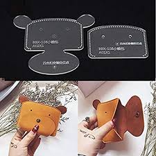Leather Templates Amazon Com Nw Coin Purse Acrylic Template Leather Pattern Acrylic