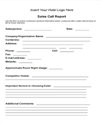 Sales Call Report Form Fantastic Vacation Ideas For Forms Format ...