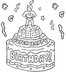 Happy Birthday Coloring Sheet Ugyfelvadaszonline