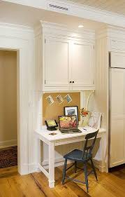 office in kitchen. idea of the day traditional white kitchen desk by crown point cabinetry office in