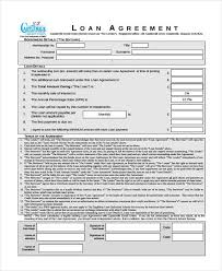 Sample Loan Contract Templates Extraordinary 44 Loan Agreement Form Templates Free Premium Templates