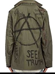 antifa art painted anarchy jacket from military m65 field antifa jacket from barneys is actually jacket