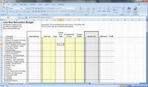 Free Renovation Budget Spreadsheet Download In 2019