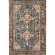 navy and orange rug blue printed jute