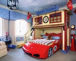 Kids race car bedroom
