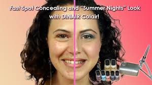 review dinair airbrush makeup kit with acne coverage and summer look video tutorial